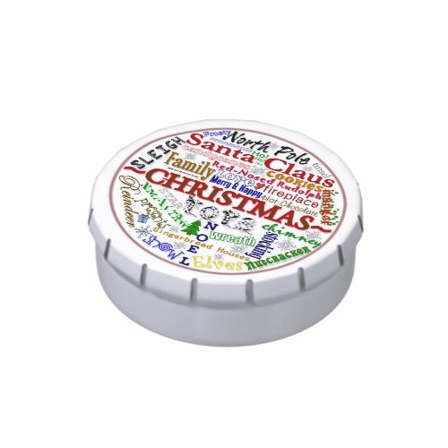 Christmas Word-Art - Candy Tin
