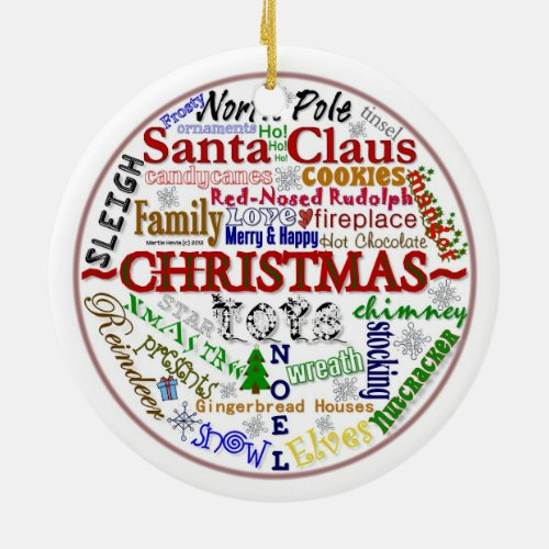 Christmas Word-Art (Personalize w/ Your Photo)