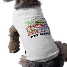 Christmas Word-Art - Pet Shirt