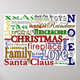 Christmas Word-Art Poster