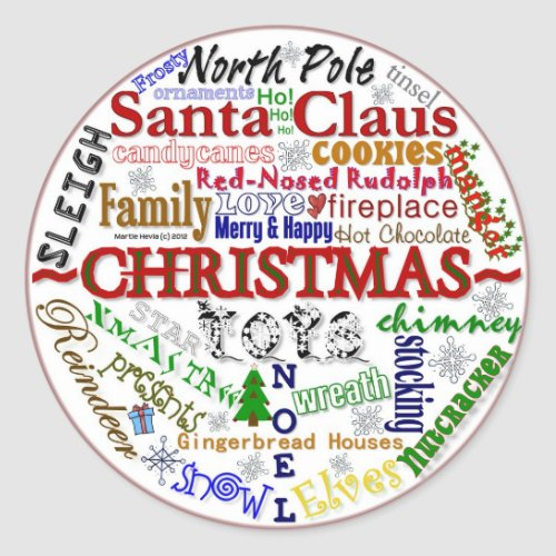 Christmas Word-Art - Sticker
