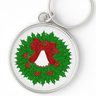 Christmas Wreath Keychain