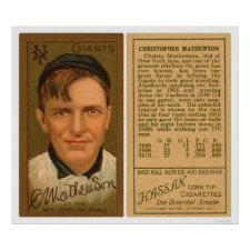 Christy Mathewson Baseball 1911 Posters