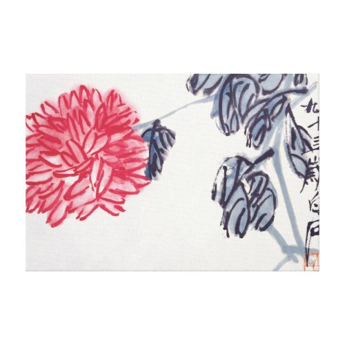 Chrysanthemum wrappedcanvas