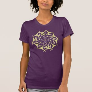 Chrysanthemum Vortex v2 on a Women's T-shirt