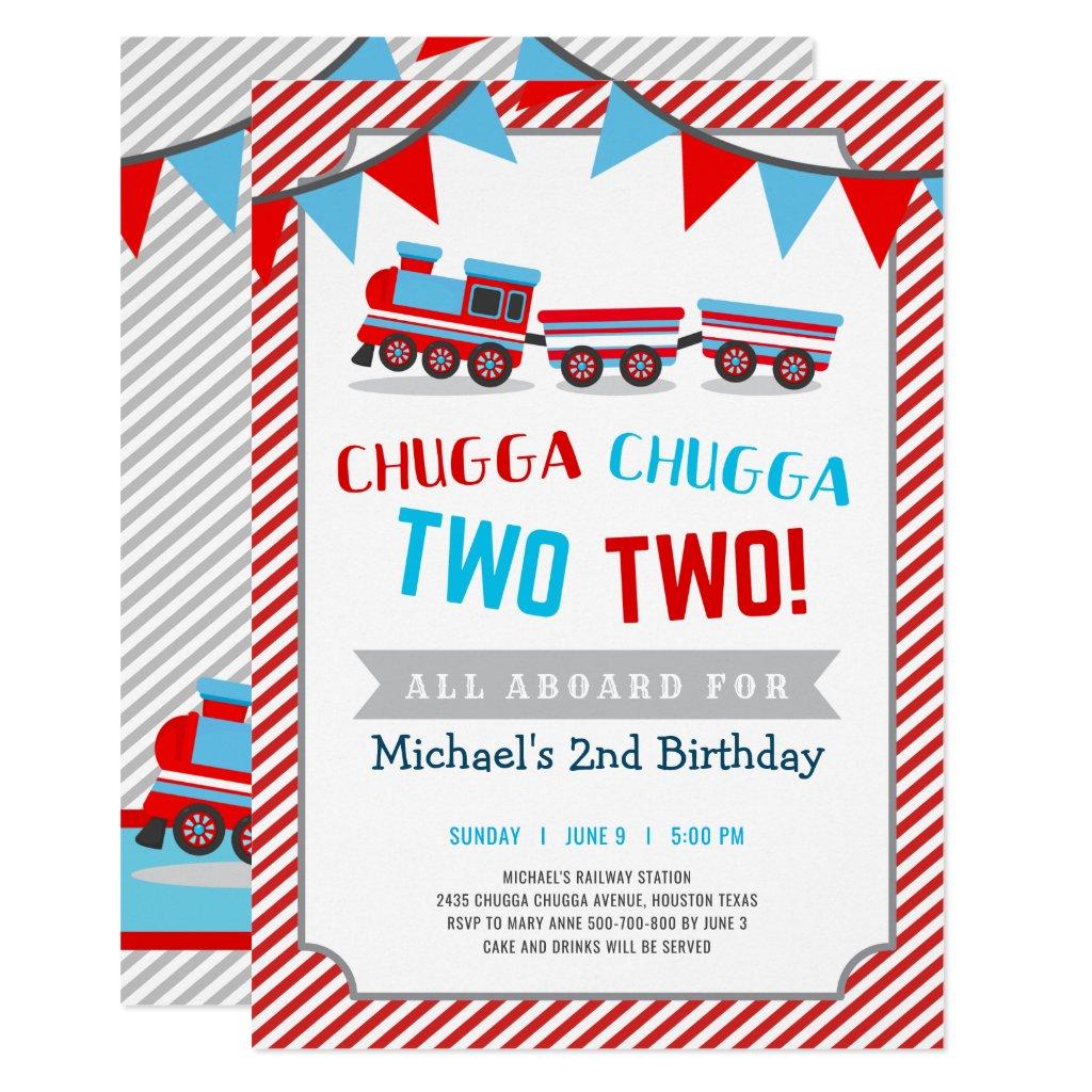boy 2nd birthday invitation templates