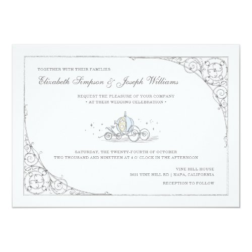 Cinderella Carriage | Fairytale Wedding Invitation