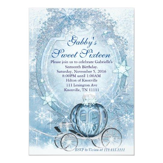 Cinderella Invitation Cinderella Sweet Sixteen Card