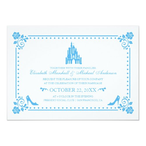 Cinderella Wedding | Castle &amp&#x3B; Flowers Invitation