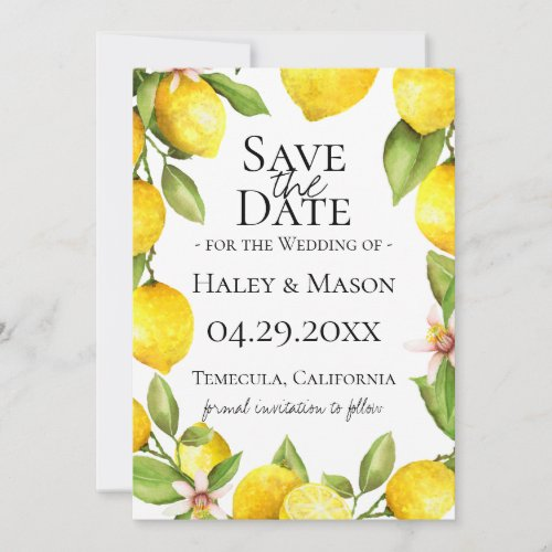 Citrus Orchard Save The Date Announcement