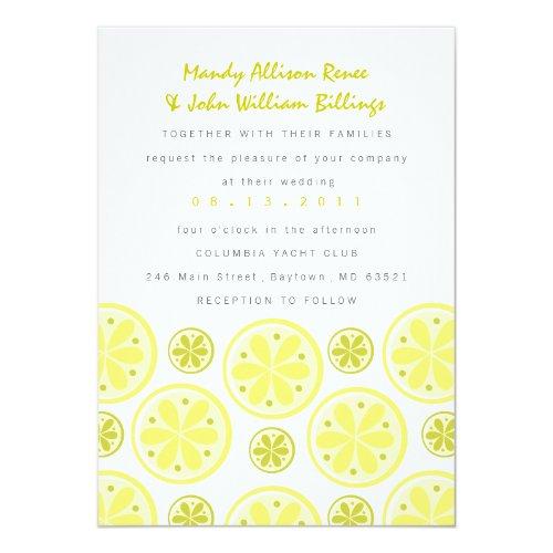 Citrus Wedding Invitation