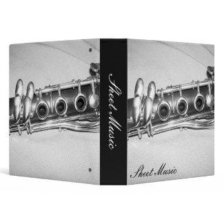 Clarinet Sheet Music Binder binder