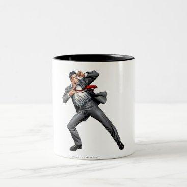 Clark changes into Superman Two-Tone Coffee Mug