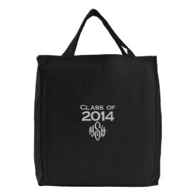 Class of 2014 & Your Initials Embroidered Bag