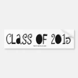 Class of 2015 - Bumper Sticker