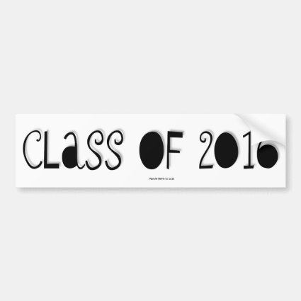 Class of 2016 - Bumper Sticker