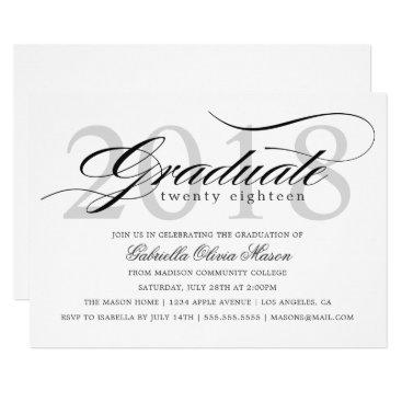 Class of 2018 Elegant Graduate Graduation Party Card