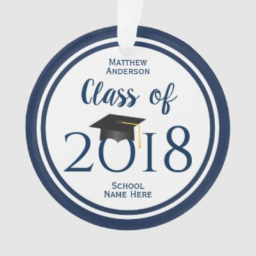 Class of 2018 Elegant Graduation Cap Graduate Ornament