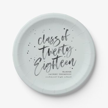Class of 2018 graduate party plates