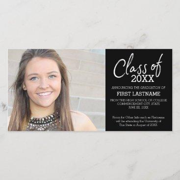 Class of Year Modern Graduation Photo Announcement