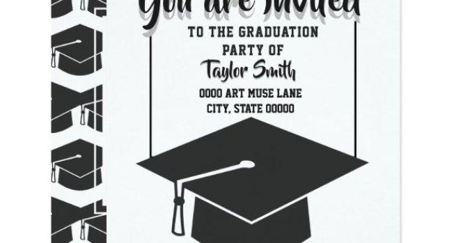 Classic Black White Graduation Party