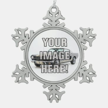 Classic Chevy Camaro Photo - Add your car! Snowflake Pewter Christmas Ornament