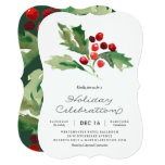 Classic Holly Berry Holiday Party Invitation