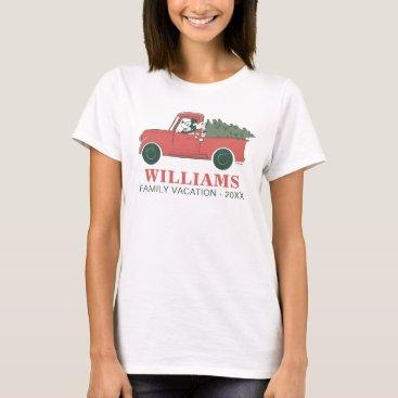 Classic Mickey & Truck | Christmas Family Vacation T-Shirt