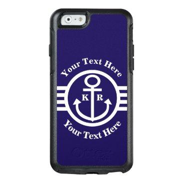 Classic Nautical Anchor monogram OtterBox iPhone 6/6s Case