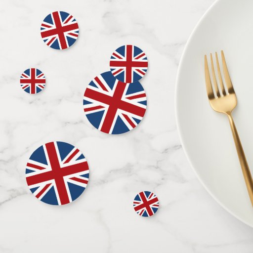 Classic Union Jack UK Flag Confetti