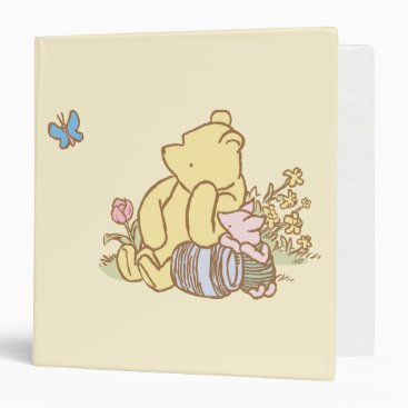 Classic Winnie the Pooh and Piglet 1 Binder