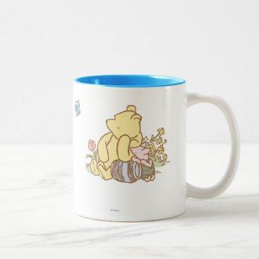 Classic Winnie the Pooh and Piglet 1 Two-Tone Coffee Mug