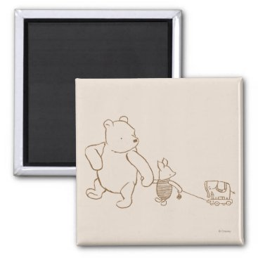 Classic Winnie the Pooh and Piglet 2 Magnet