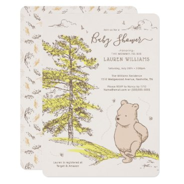 Classic Winnie the Pooh   Baby Shower Invitation