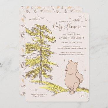 Classic Winnie the Pooh | Baby Shower Invitation