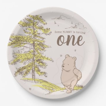 Classic Winnie the Pooh | First Birthday Paper Plate