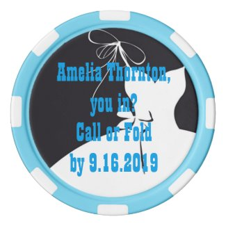 Clay Poker Chip Maid of Honor or Bridesmaid Invite Poker Chips