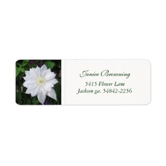 Clematis Address Label