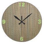 Clock: Straw Mat Clocks