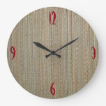 Clock: Straw Mat Wall Clock