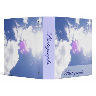 Clouds with Orb Photo Binder binder