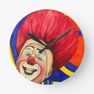 Clown Mark Carfora Clock