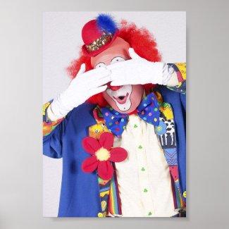Clown Peekaboo print
