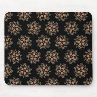 CMYK Fractal Star Pattern mousepad