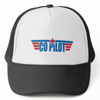 Co-Pilot Wings Badge - Aviation Trucker Hat