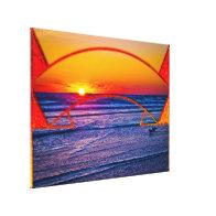 Coastal Daytona Beach Shores Architecture & Landsc Stretched Canvas Prints