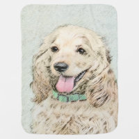 Cocker Spaniel (Buff) Stroller Blanket