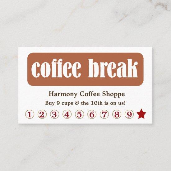 Coffee Break Customer Loyalty Discount