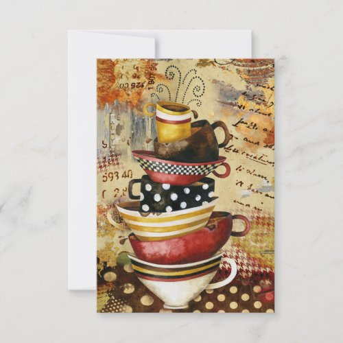 Coffee Cups Divine Greeting Card