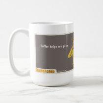 coffee helps me poop mug